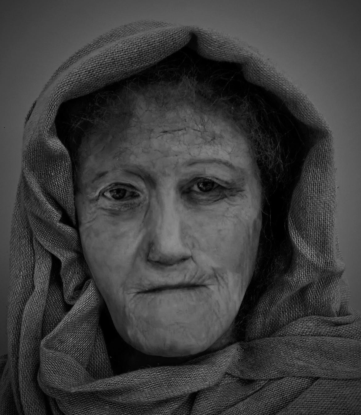 A digital reconstruction of 'Hilda' by MSc Forensic Art student Karen Fleming