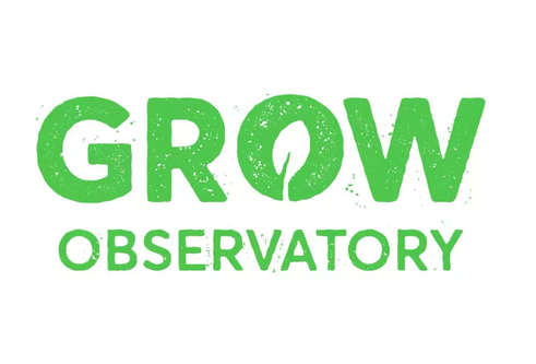 Grow observatory - logo in green text
