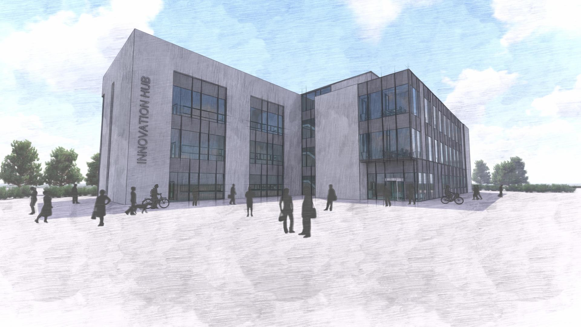 Artist's drawing of Dundee innovation hub