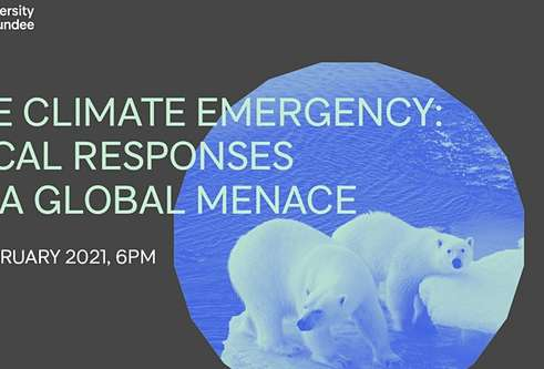 The climate emergency and how everyone  can play their part in the fight against  it will be explored at a public lecture at the University of Dundee this week.