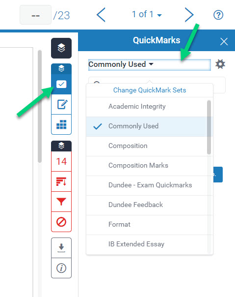 an image showing the user which settings to choose