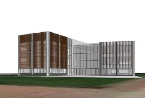 Architect's image of the Innovation Hub for Growing the Tay Cities Biomedical Cluster project