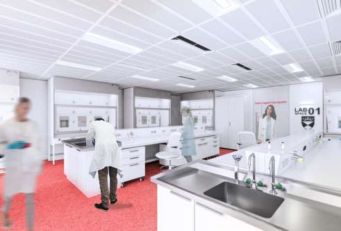 Artist's impression of a new lab at CeTPD