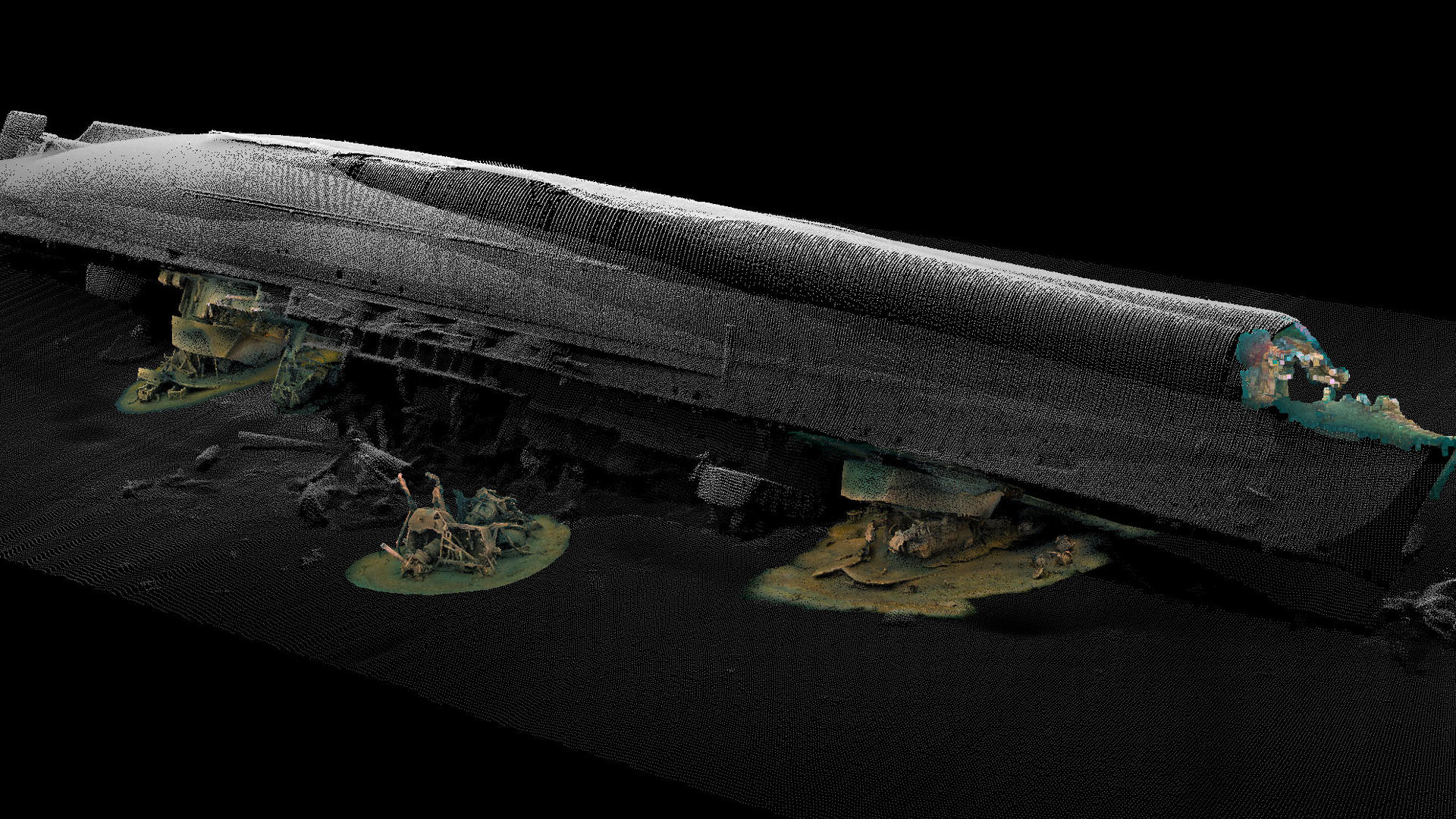 a 3d image of the Royal Oak wreck